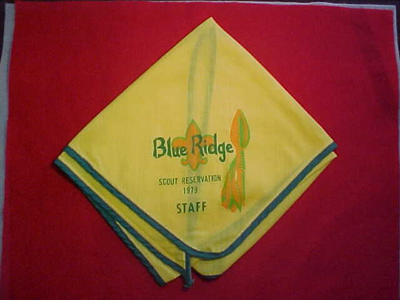 BLUE RIDGE SCOUT RESERVATION NECKERCHIEF, 1979, STAFF, MINT