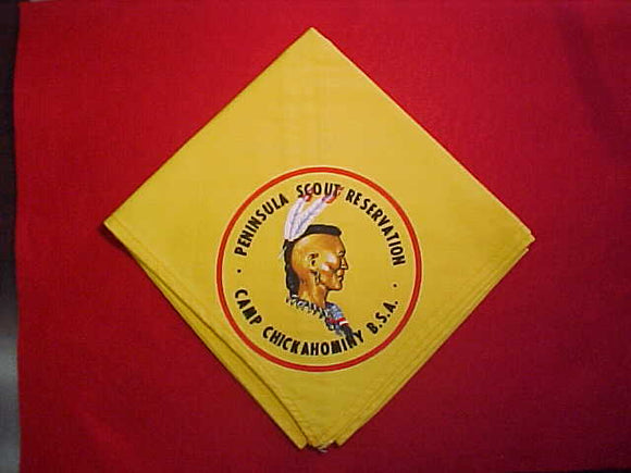 CHICKAHOMINY, PENINSULA SCOUT RESERVATION NECKERCHIEF, MINT
