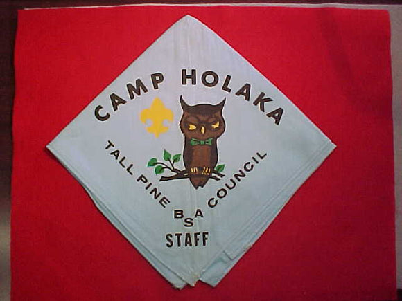 HOLAKA CAMP NECKERCHIEF, 1970'S, STAFF, USED