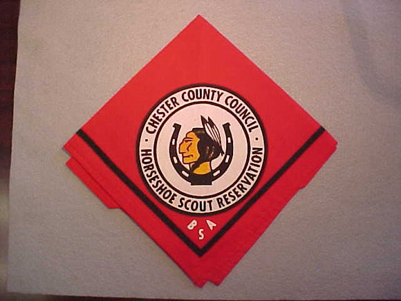 HORSESHOE SCOUT RESERVATION NECKERCHIEF, CHESTER COUNTY COUNCIL
