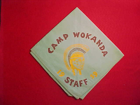 WOKANDA CAMP STAFF NECKERCHIEF, 1959