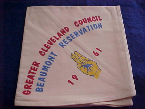 BEAUMONT RESERVATION NECKERCHIEF, 1961, GREATER CLEVELAND COUNCIL