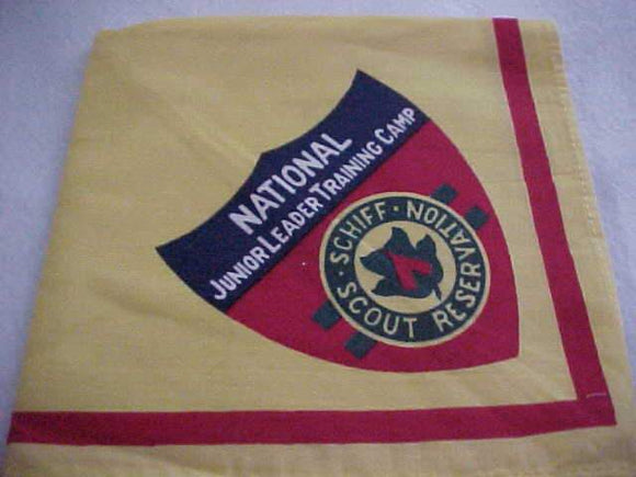 SCHIFF SCOUT RESV. NECKERCHIEF, NATIONAL JUNIOR LEADER TRAINING CAMP, mint