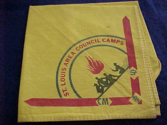 ST. LOUIS AREA COUNCIL CAMPS NECKERCHIEF, SMALL STAIN