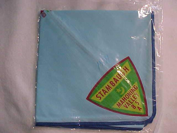 STAMBAUGH NECKERCHIEF, MAHONING VALLEY, W/ MAP, MINT IN ORIG. BAG, BLUE
