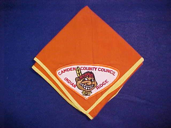 INDIAN RIDGE NECKERCHIEF WITH PATCH, CAMBEN COUNTY COUNCIL, MINT
