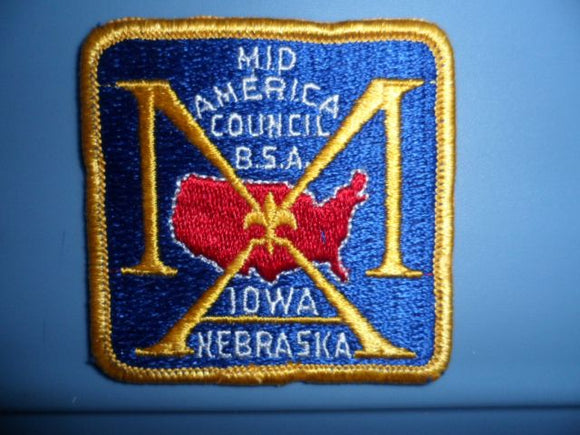 Mid America Council, Square Patch, 70 x 70mm