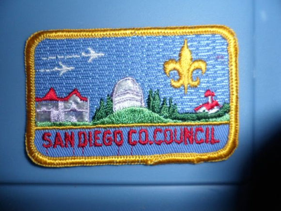 San Diego County Council, rolled border, white jets