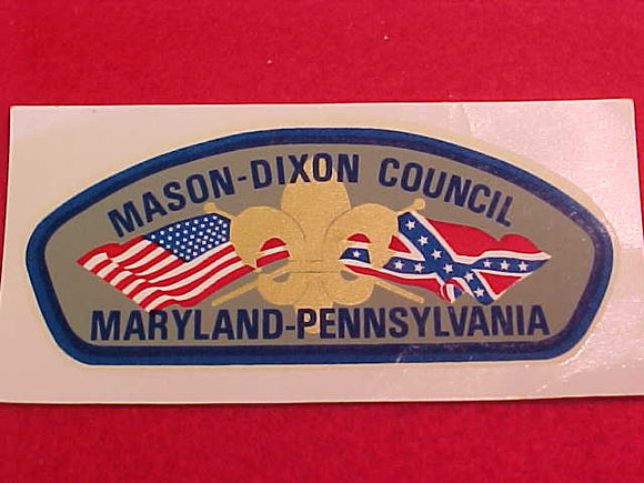 mason-dixon council, csp shape decal