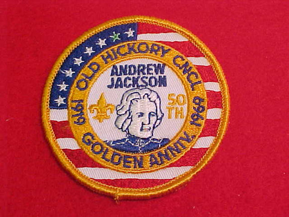 old hickory council, 1919-1969, andrew jackson, golden anniv.