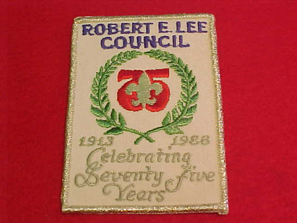 robert e. lee council, 1913-1988, celebrating 75 years