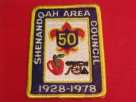 shenandoah area council, 1928-1978, 50 years