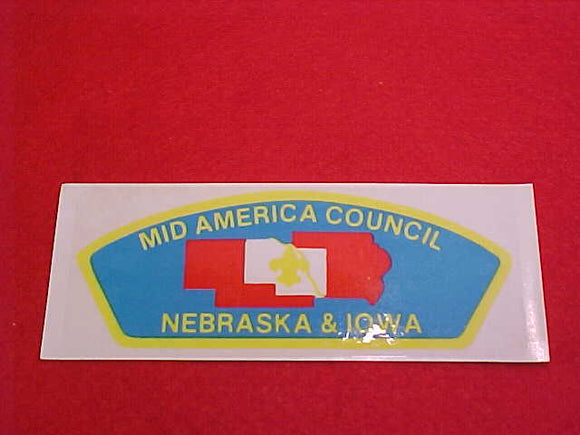 MID AMERICA COUNCIL, CSP SHAPE DECAL