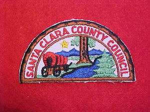 SANTA CLARA COUNTY COUNCIL, HALF CIRCLE, CUT EDGE