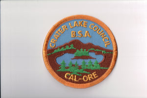Crater Lake Council, with B.S.A., plastic back