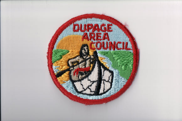 Dupage Area Council, cut edge, no fdl, unused condition, with staple mark