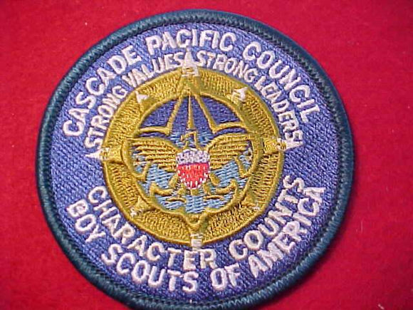 CASCADE PACIFIC C. PATCH, CHARACTER COUNTS