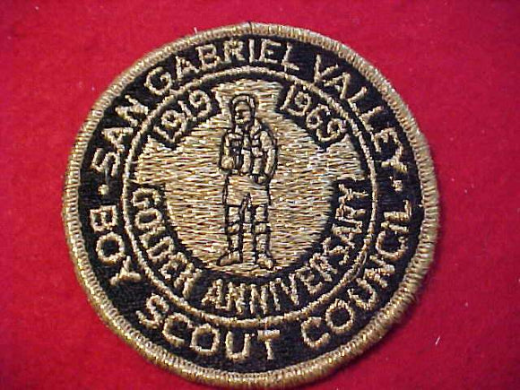 SAN GABRIEL VALLEY C. PATCH, 1919-1969, GOLDEN ANNIV.