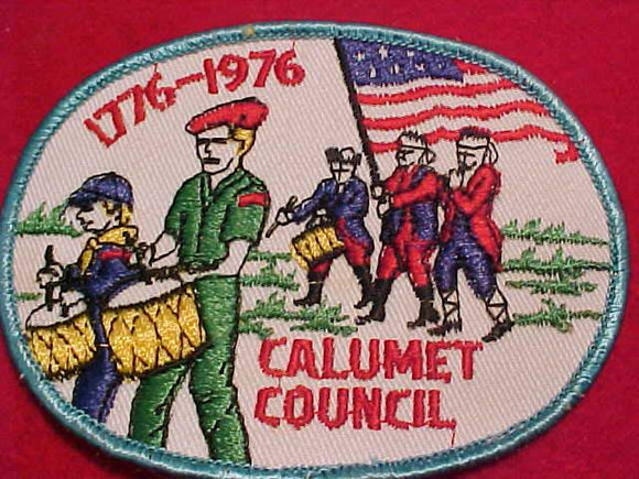 CALUMET COUNCIL PATCH, 1776-1976