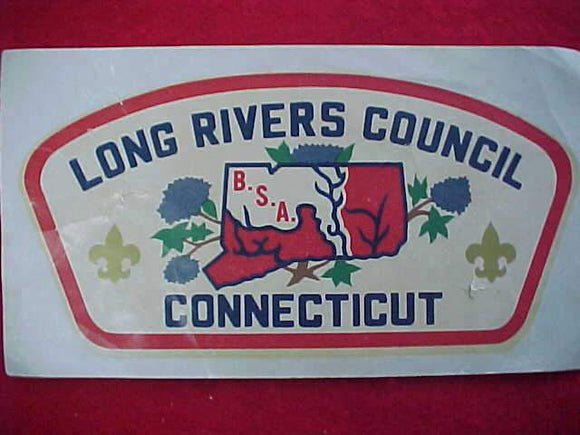 LONG RIVERS COUNCIL DECAL, CSP SHAPE, FAIR COND.