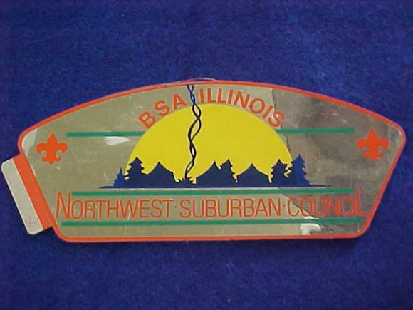NORTHWEST SUBURBAN COUNCIL STICKER, CSP SHAPE, FOIL