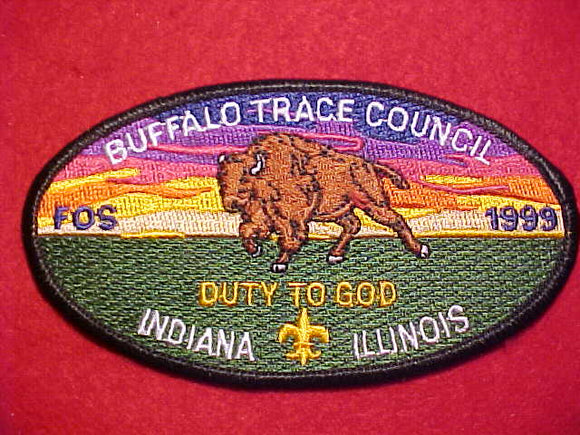 BUFFALO TRACE COUNCIL PATCH, 1999 FOS