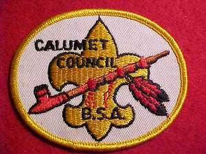 CALUMET COUNCIL PATCH, YELLOW BDR.