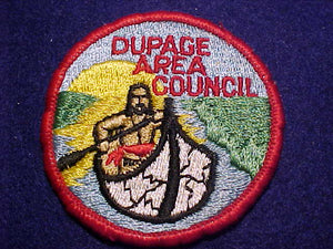 DUPAGE AREA COUNCIL PATCH, NO FDL, ROLLED BDR., USED