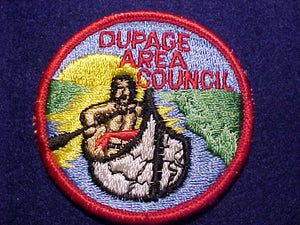 DUPAGE AREA COUNCIL PATCH, NO FDL, ROLLED BDR., MINT