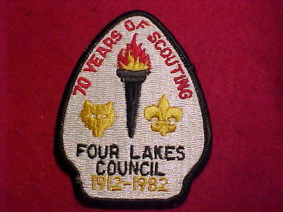 FOUR LAKES COUNCIL PATCH, 1912-1982