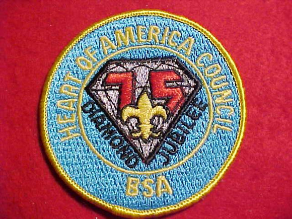 HEART OF AMERICA COUNCIL PATCH, 1985 DIAMOND JUBILEE