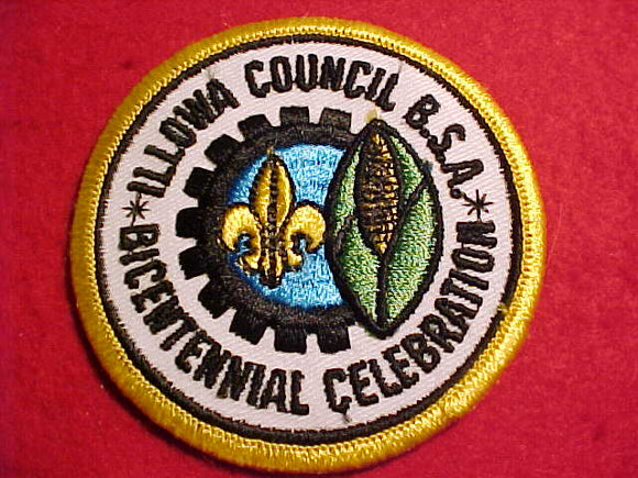ILLOWA COUNCIL PATCH,BICENTENNIAL CELEBRATION (1976)