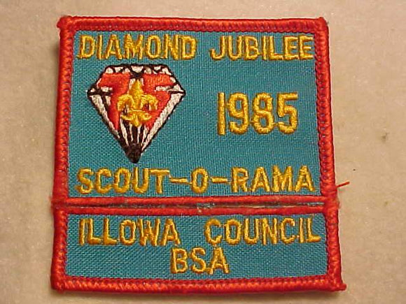 ILLOWA COUNCIL PATCH SET, 1985 SCOUT-O-RAMA
