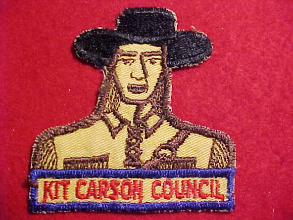 KIT CARSON COUNCIL PATCH, USED