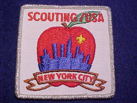NEW YORK CITY PATCH, SCOUTING/USA, (1970)