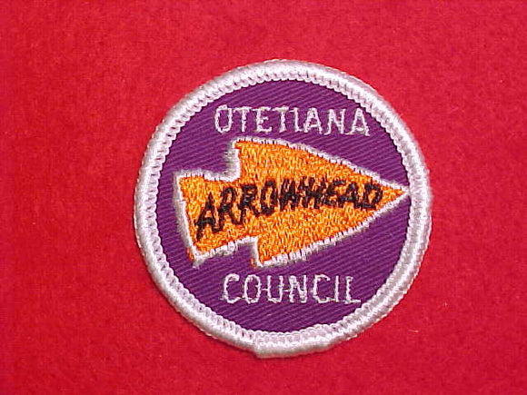 ARROWHEAD DISTRICT, OTETIANA COUNCIL