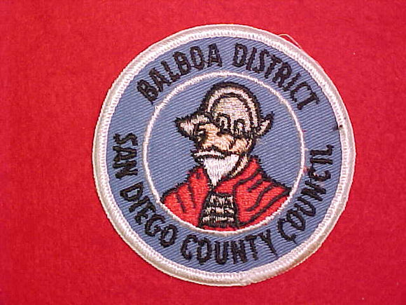 BALBOA DISTRICT, SAN DIEGO COUNTY COUNCIL, HORIZONTAL GRAY IN HELMET