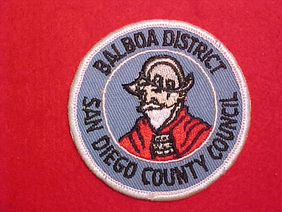 BALBOA DISTRICT, SAN DIEGO COUNTY COUNCIL, VERTICAL GRAY IN HELMET