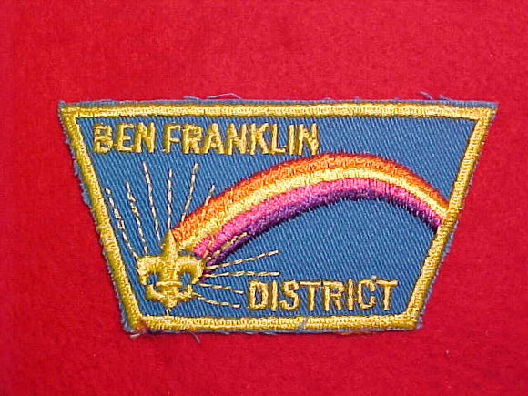 BEN FRANKLIN DISTRICT, PLASTIC BACK
