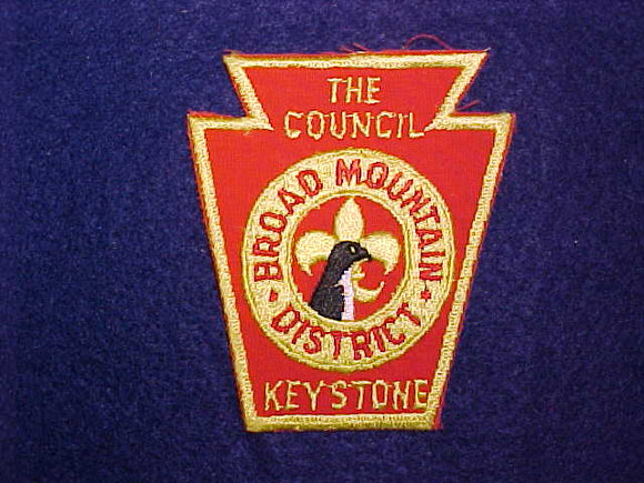 BROAD MTN DISTRICT, KEYSTONE COUNCIL