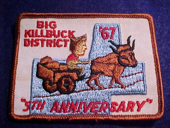 BIG KILLBUCK DISTRICT, 1967, 5TH ANNIV., NEAR MINT