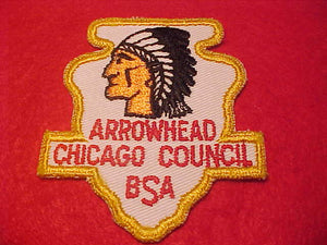 ARROWHEAD DISTRICT, CHICAGO COUNCIL, 1950'S, MINT