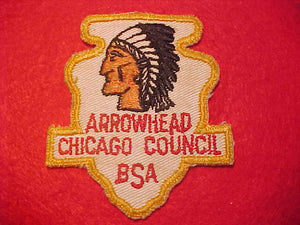 ARROWHEAD DISTRICT, CHICAGO COUNCIL, 1950'S, USED