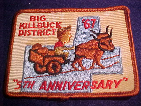 BIG KILLBUCK DISTRICT 5TH ANNIVERSARY, 1967, USED