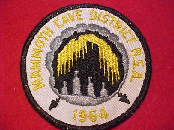 MAMMOTH CAVE DISTRICT PATCH, 1964, USED