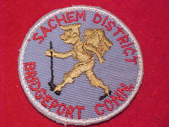 SACHEM DISTRICT PATCH, BRIDGEPORT, CONN., USED
