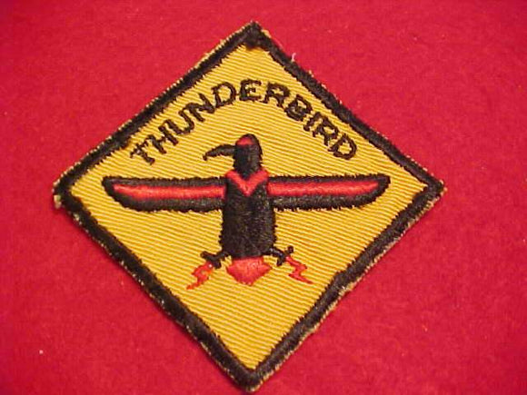 THUNDERBIRD DISTRICT PATCH, CUT EDGE, USED