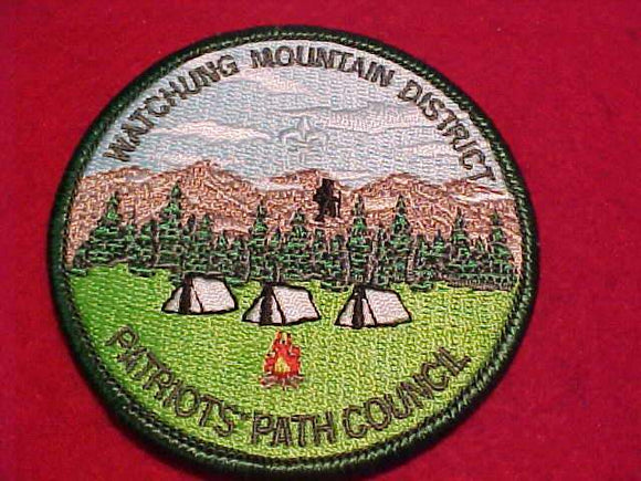 WATCHUNG MOUNTAIN DISTRICT PATCH, PATRIOTS' PATH C.