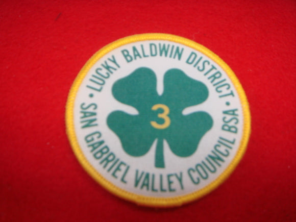 Lucky Baldwin District San Gabriel Valley Council