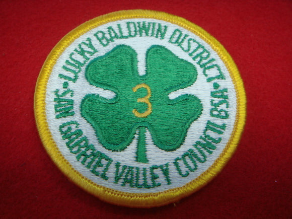Lucky Baldwin District 3 San Gabriel Valley Council